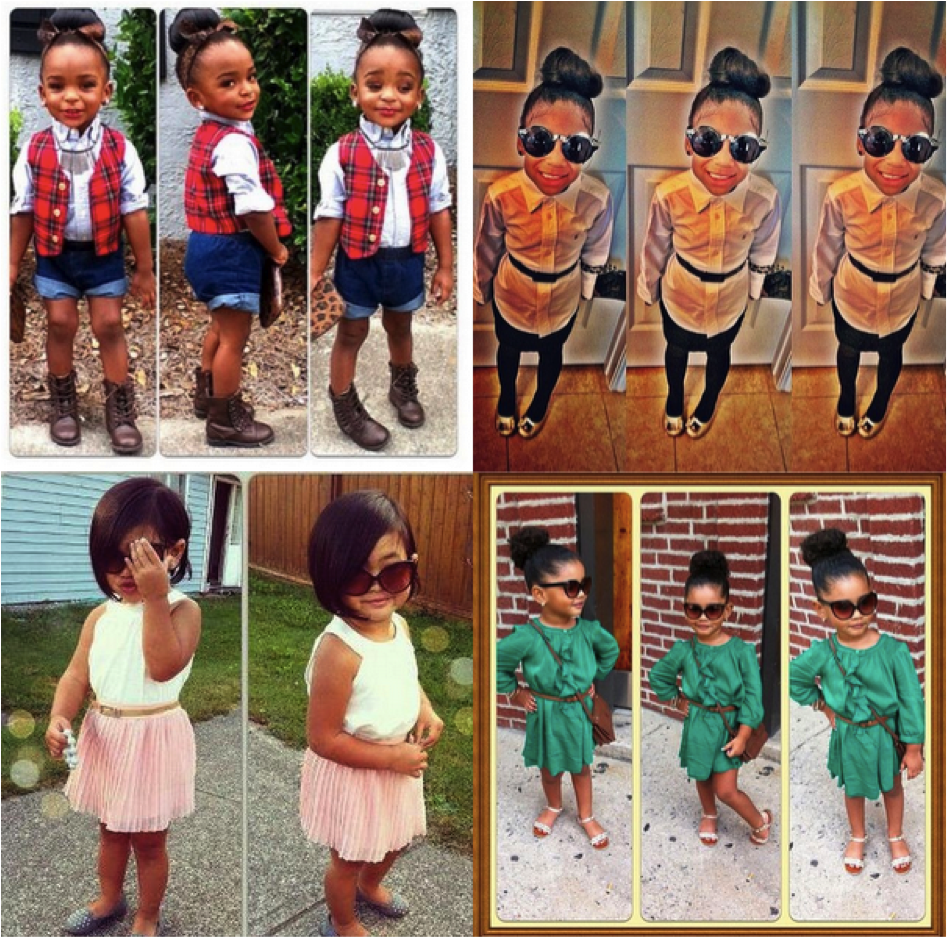 Fashion Black kids instagram pictures recommend dress in winter in 2019